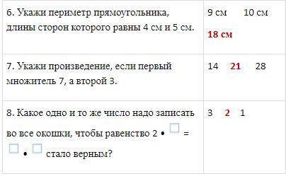 Проверочная работа по Математике 2 класс Волкова страница 64 вариант 1